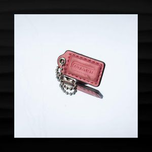1.5″ Small COACH PINK PATENT LEATHER KEY FOB